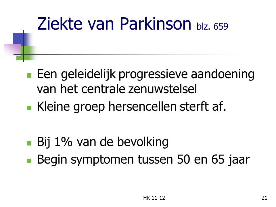 Ziekte van Parkinson blz. 659