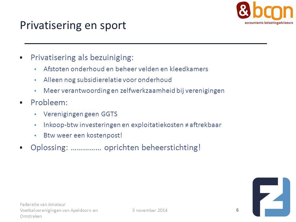 Privatisering en sport
