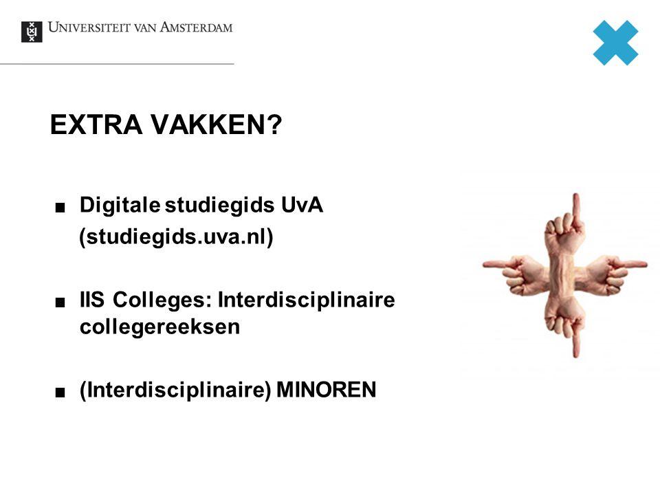 EXTRA VAKKEN Digitale studiegids UvA (studiegids.uva.nl)