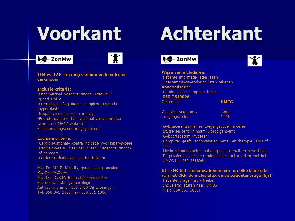 Voorkant Achterkant Wijze van includeren: