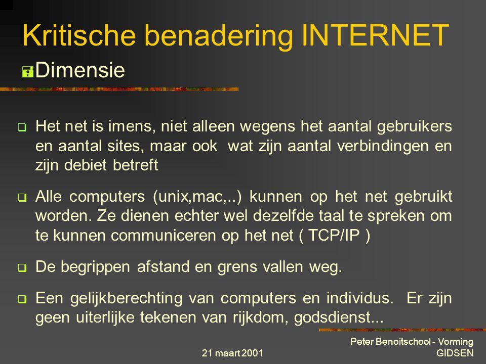 Kritische benadering INTERNET