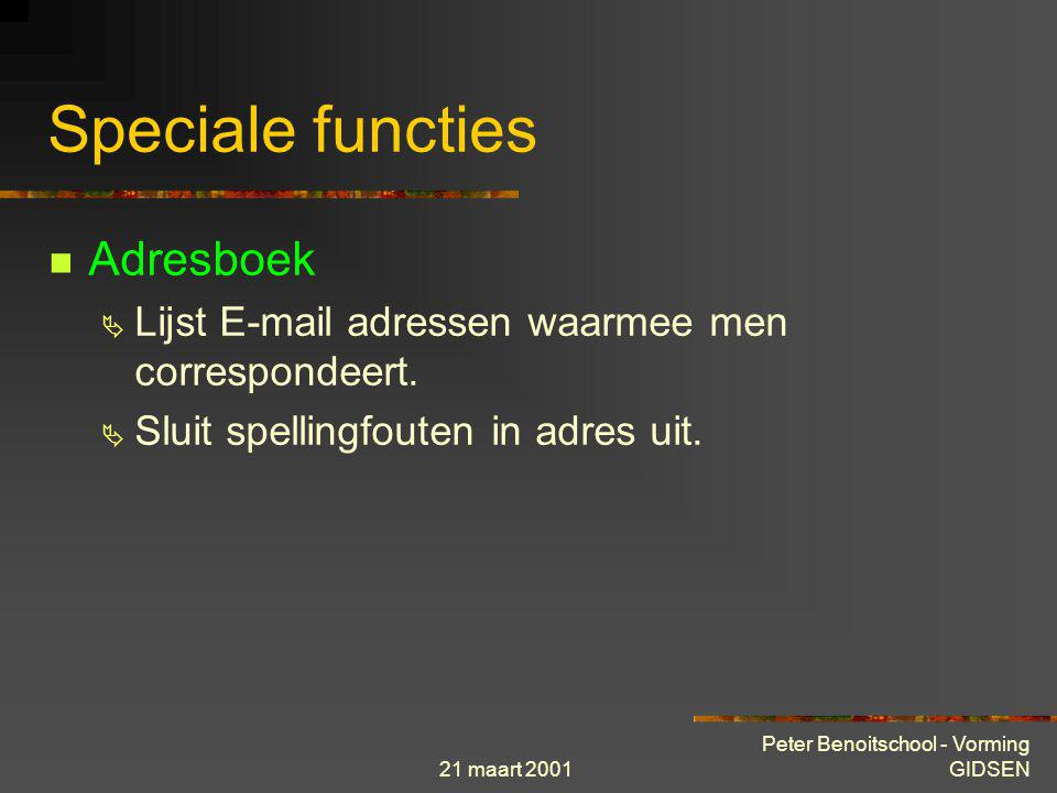 Speciale functies Adresboek