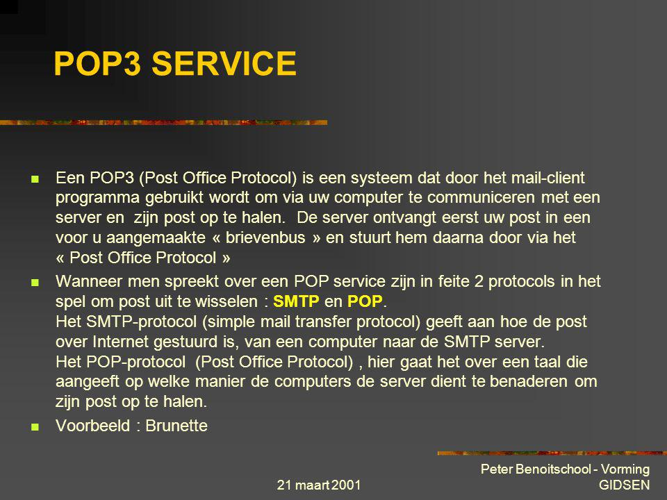 POP3 SERVICE
