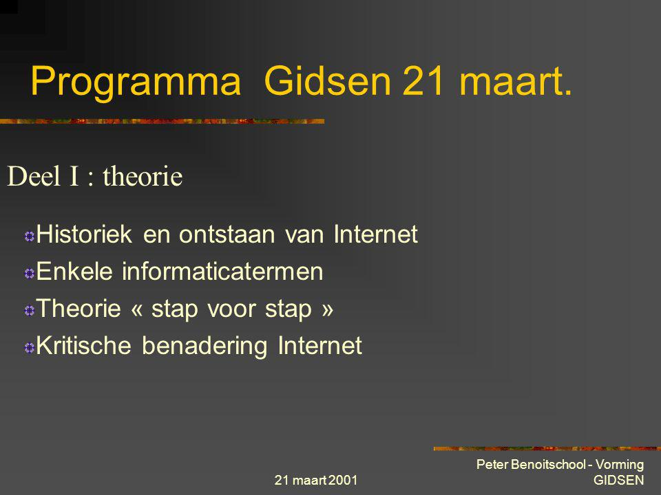 Programma Gidsen 21 maart.