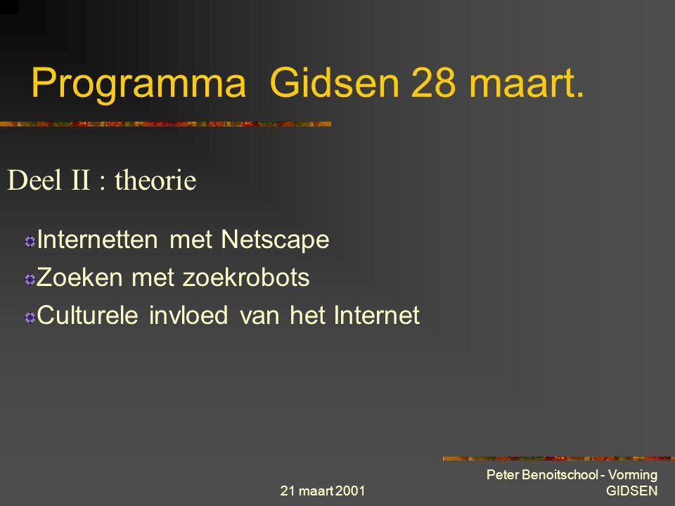 Programma Gidsen 28 maart.