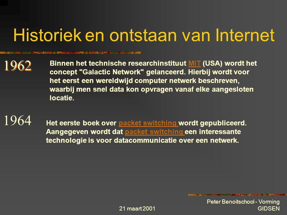 Historiek en ontstaan van Internet