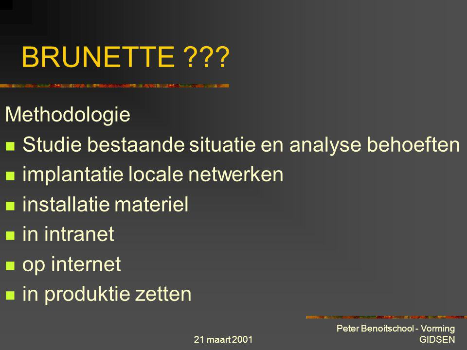 BRUNETTE Methodologie