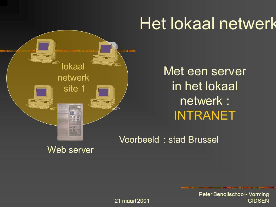 Met een server in het lokaal netwerk : INTRANET