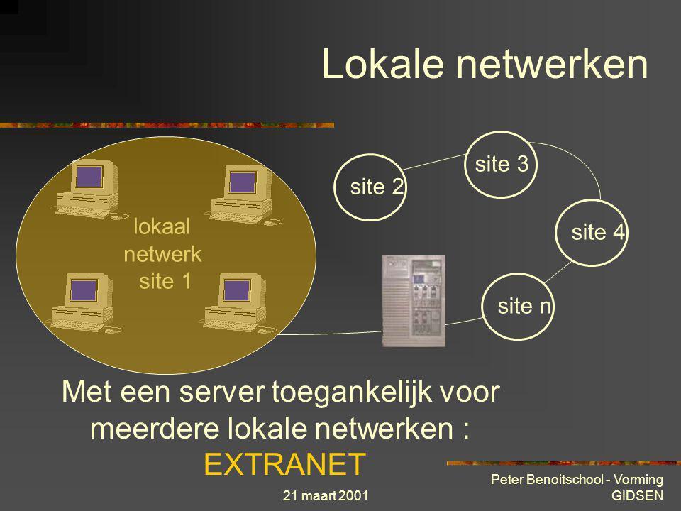 Met een server toegankelijk voor meerdere lokale netwerken : EXTRANET