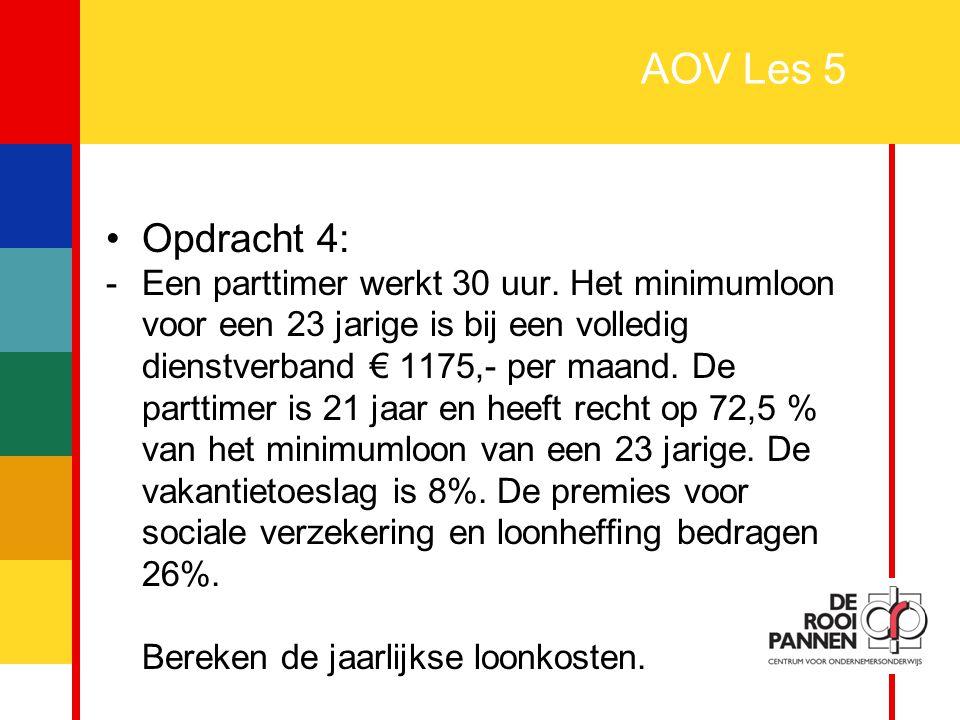 AOV Les 5 Opdracht 4:
