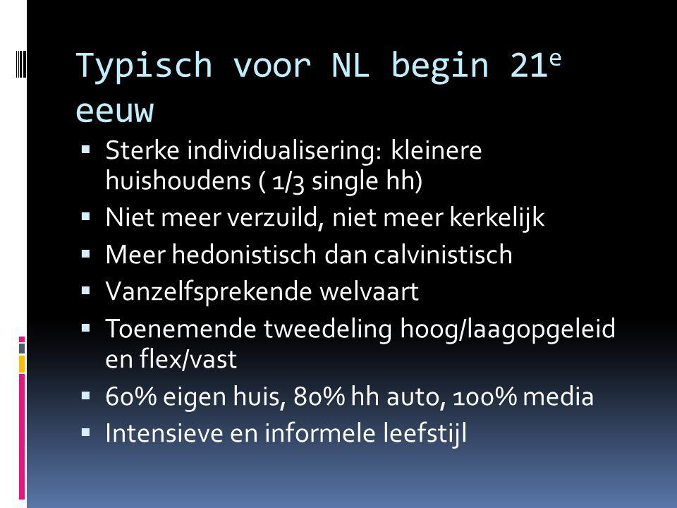 Typisch voor NL begin 21e eeuw