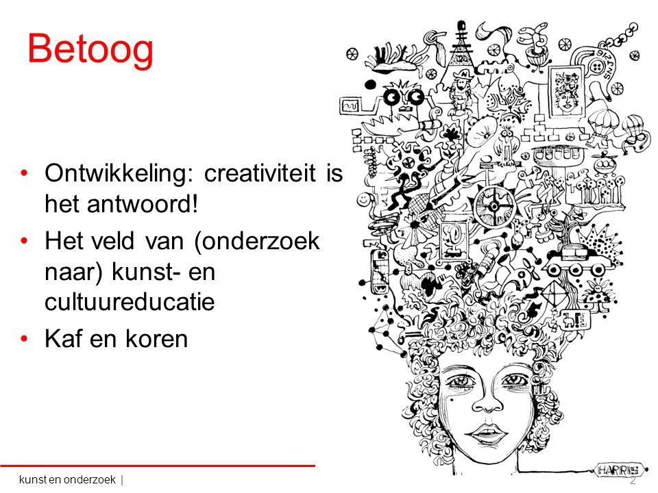 Betoog Ontwikkeling: creativiteit is het antwoord!
