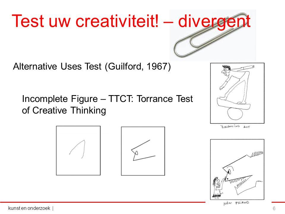 Test uw creativiteit! – divergent