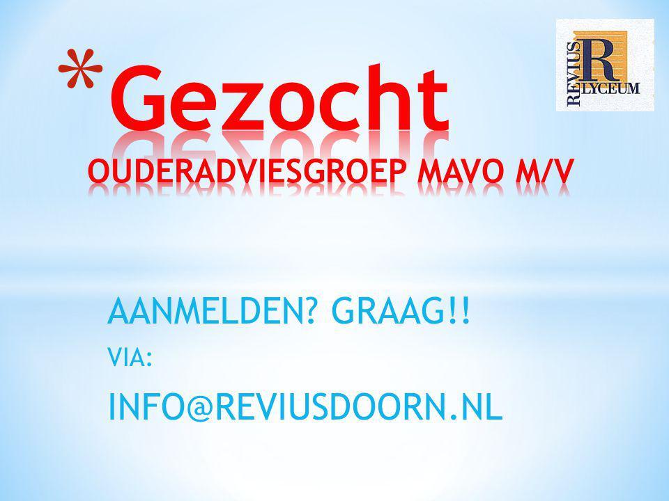 Gezocht OUDERADVIESGROEP MAVO M/V