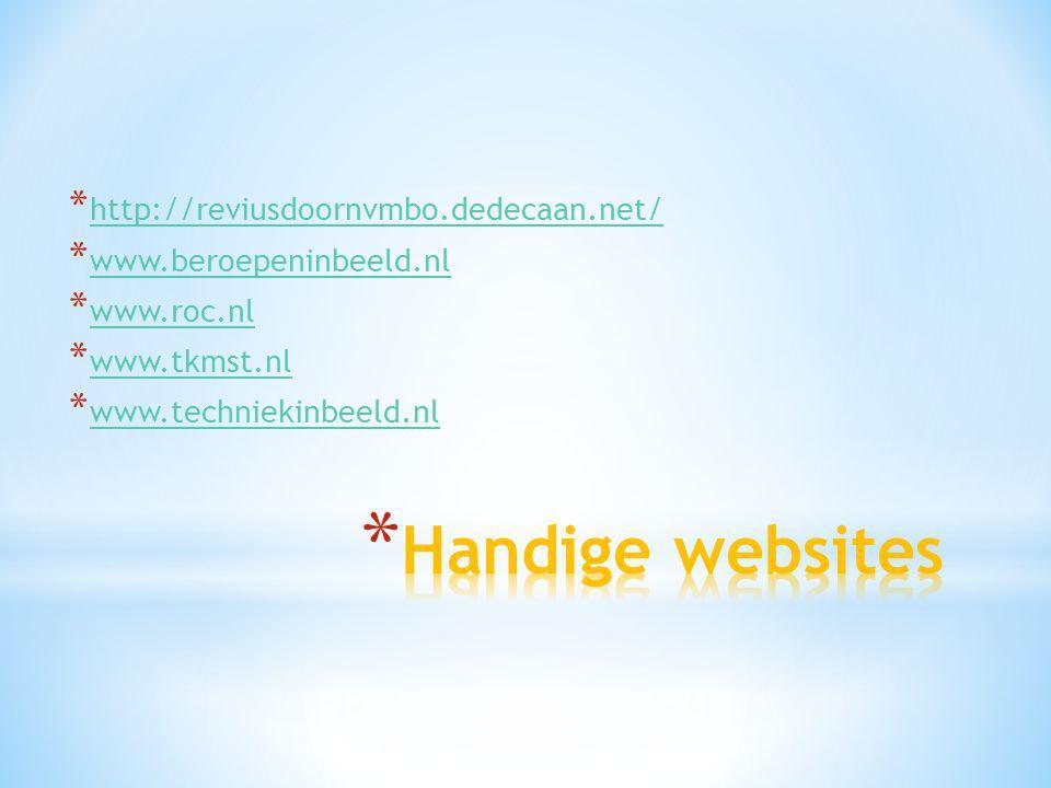 Handige websites http://reviusdoornvmbo.dedecaan.net/