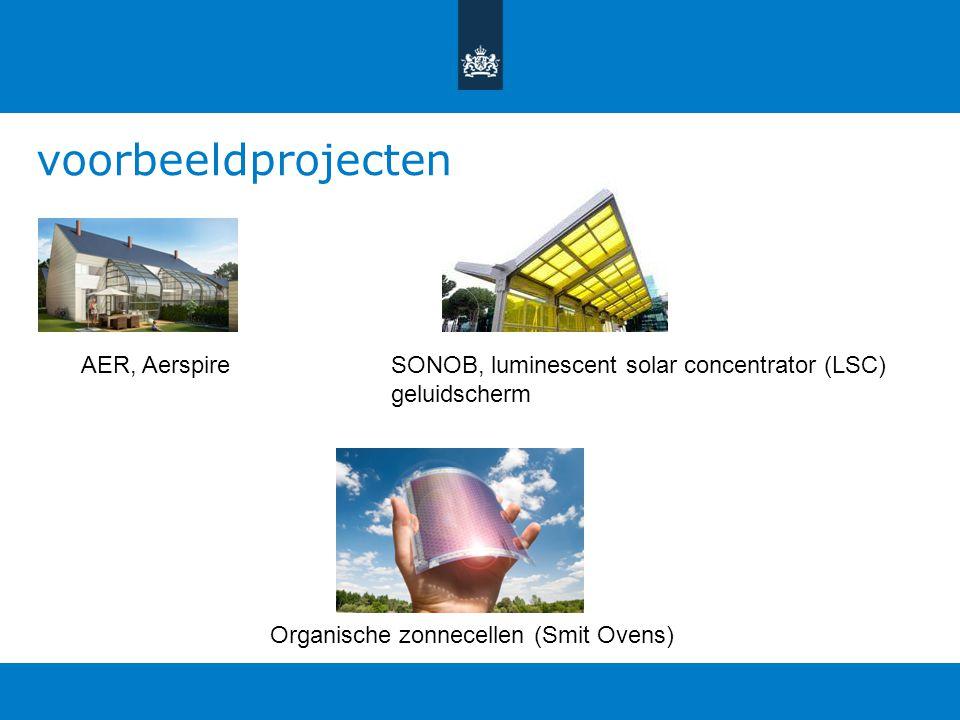 voorbeeldprojecten AER, Aerspire