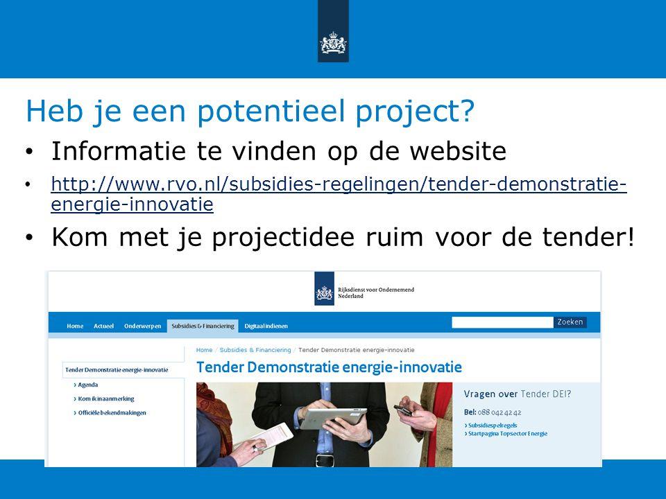Heb je een potentieel project