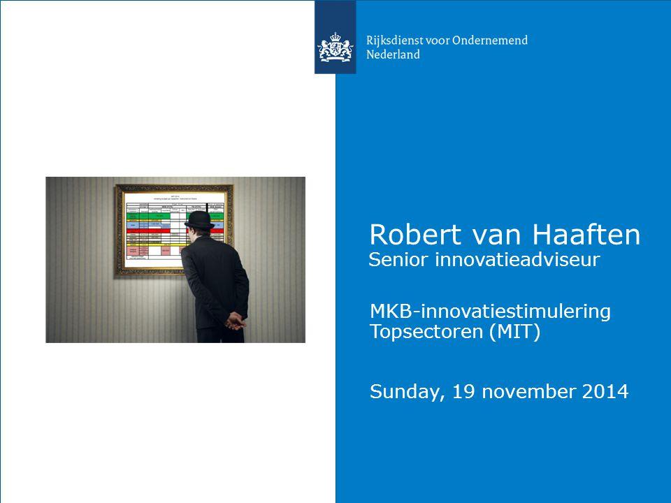 Robert van Haaften Senior innovatieadviseur