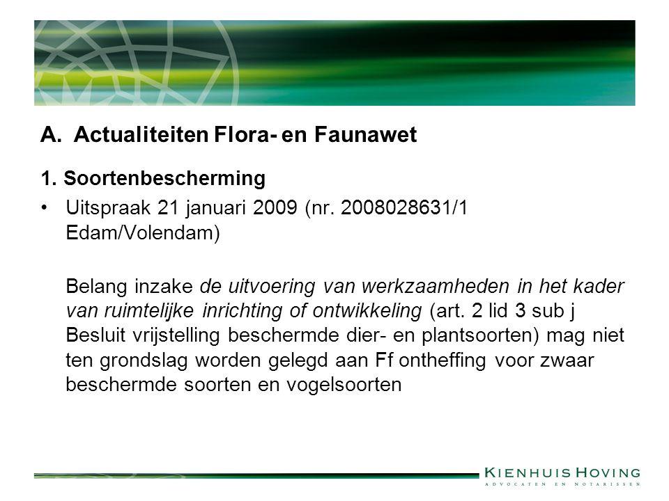 Actualiteiten Flora- en Faunawet