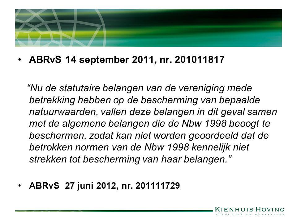 ABRvS 14 september 2011, nr. 201011817