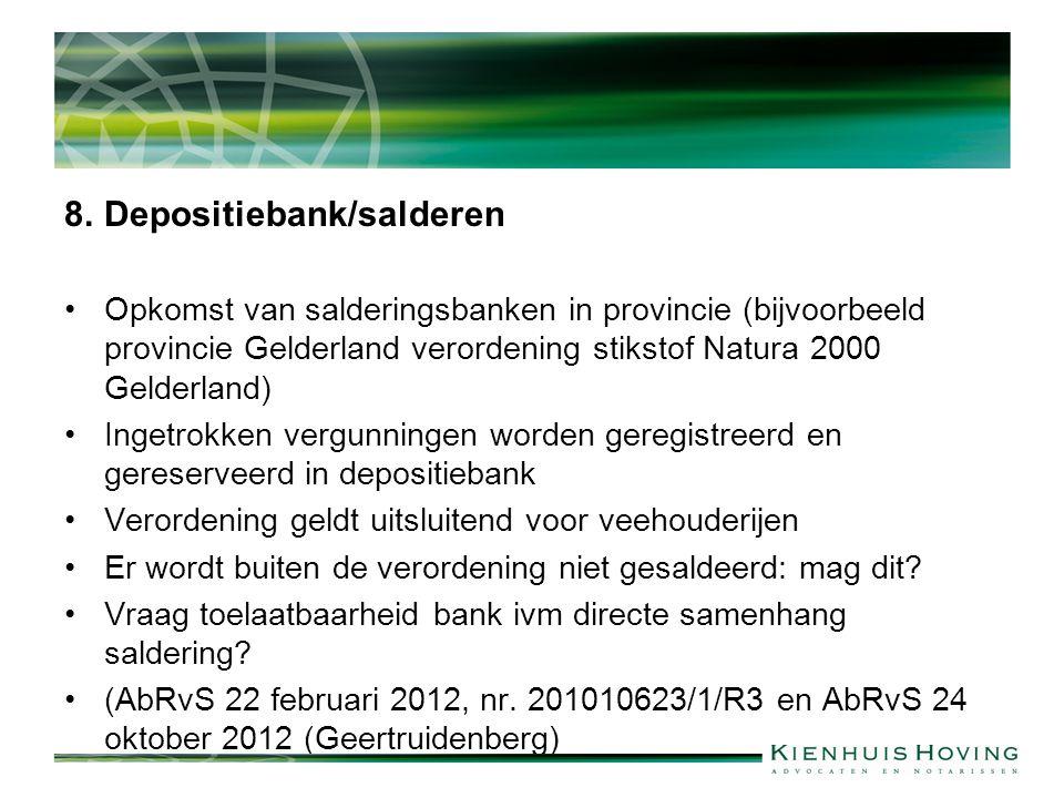8. Depositiebank/salderen