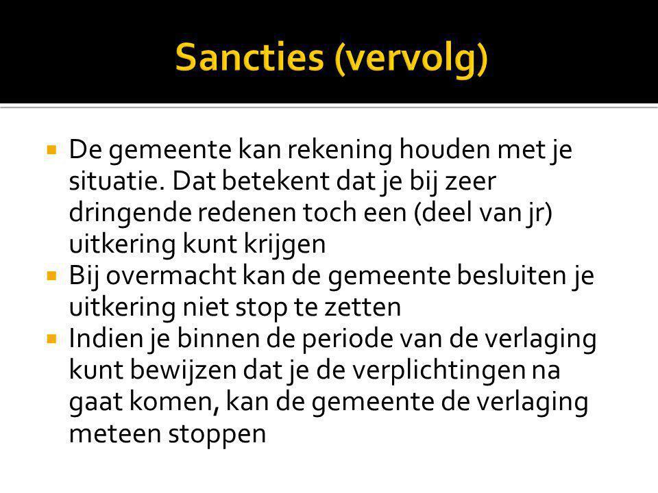Sancties (vervolg)