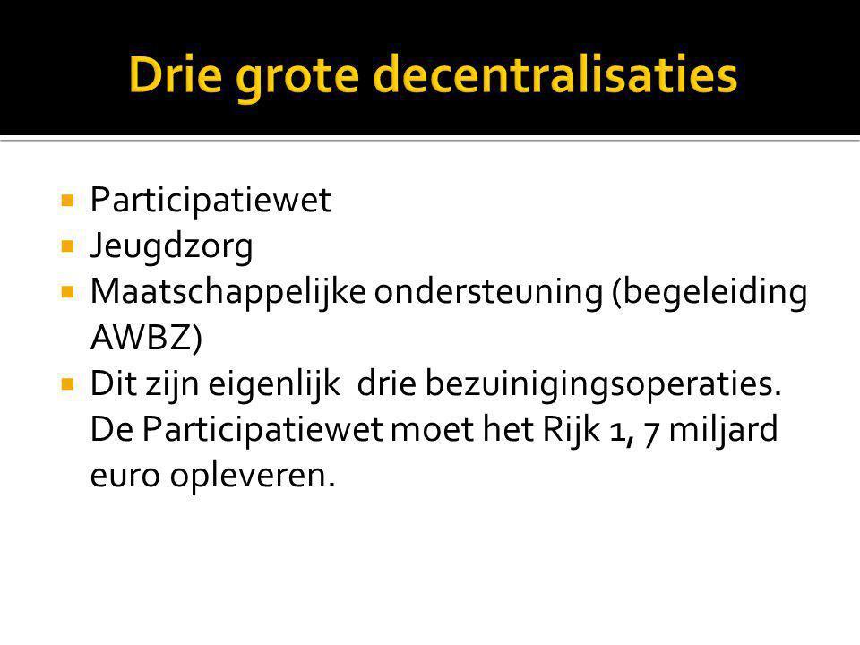 Drie grote decentralisaties