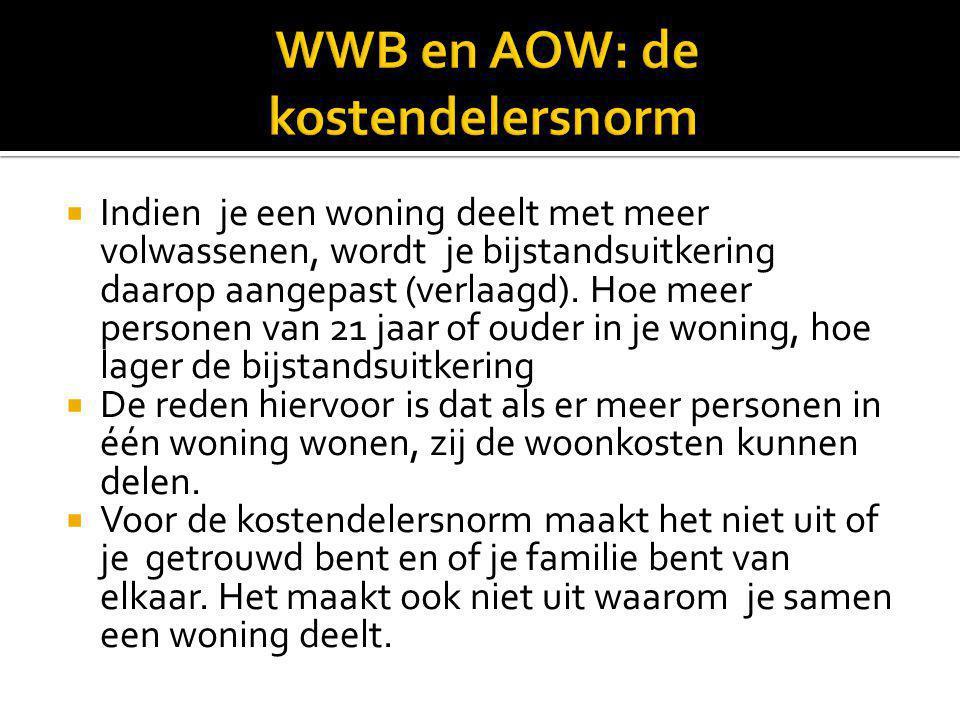 WWB en AOW: de kostendelersnorm