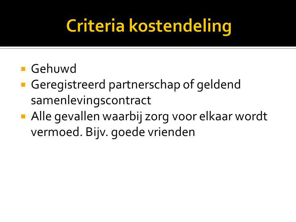 Criteria kostendeling