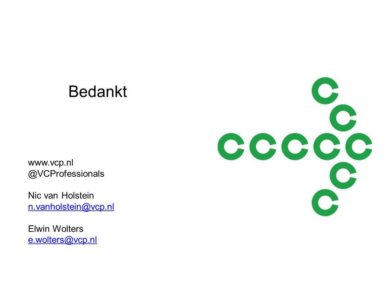 Bedankt www.vcp.nl @VCProfessionals Nic van Holstein