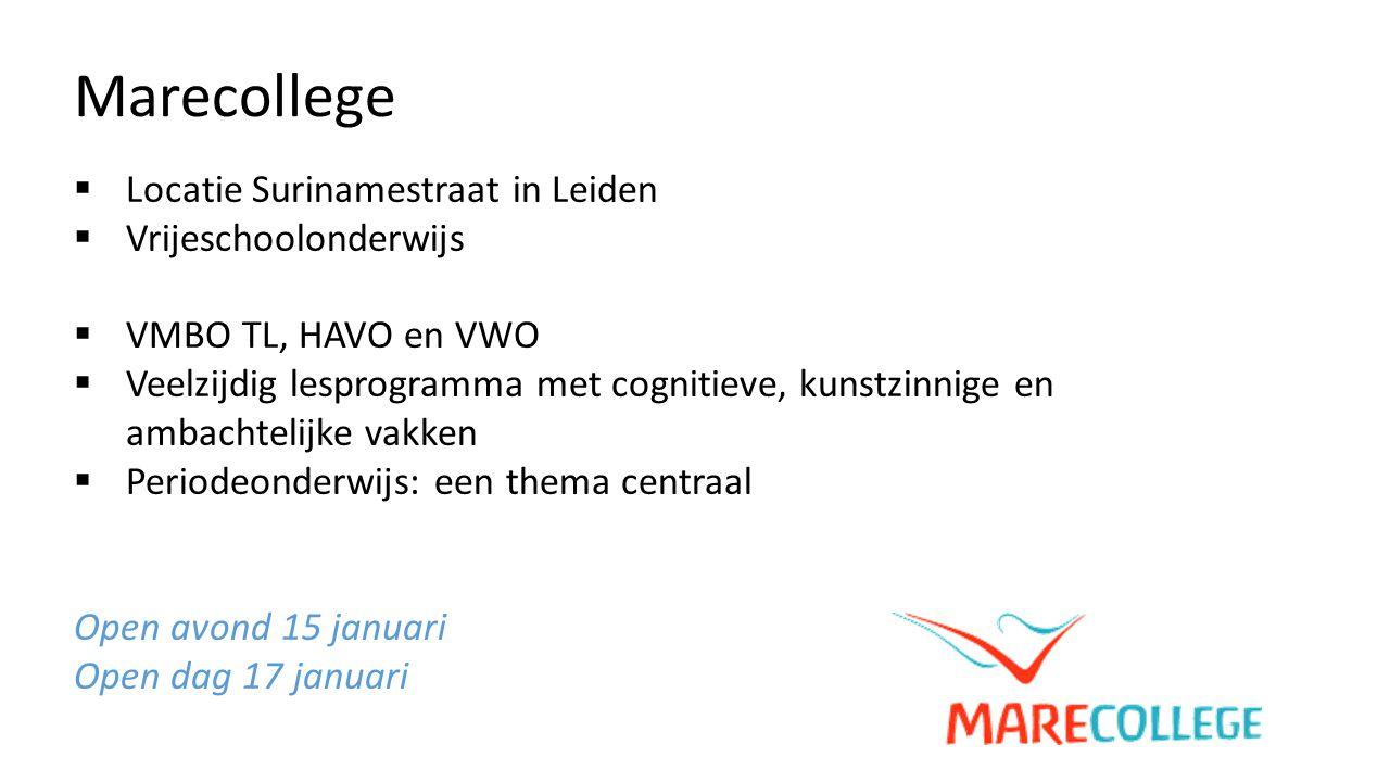 Marecollege Locatie Surinamestraat in Leiden Vrijeschoolonderwijs