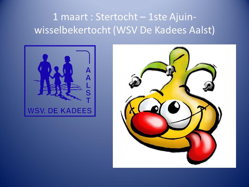 1 maart : Stertocht – 1ste Ajuin-wisselbekertocht (WSV De Kadees Aalst)