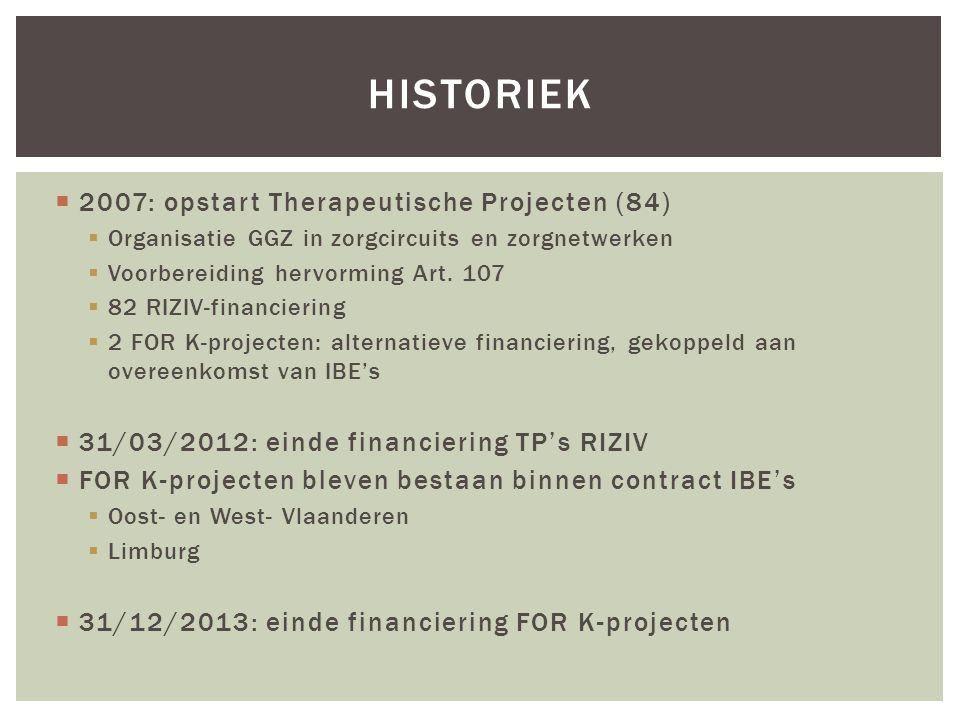 Historiek 2007: opstart Therapeutische Projecten (84)