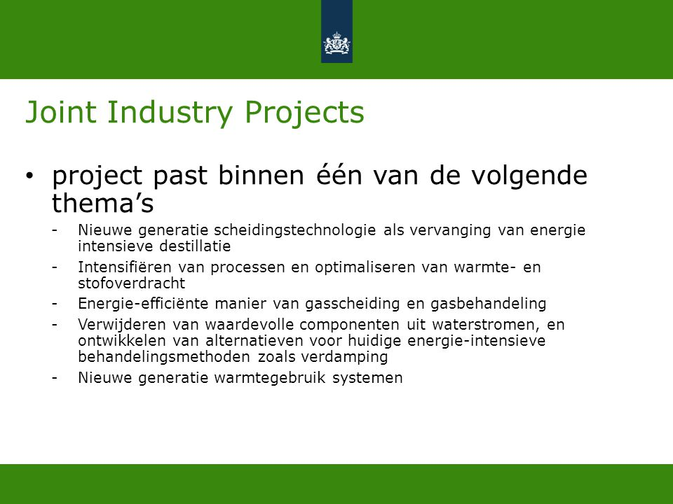Joint Industry Projects