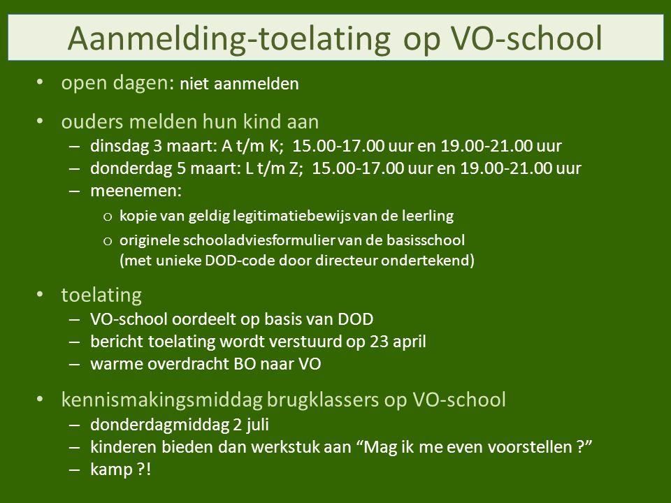 Aanmelding-toelating op VO-school