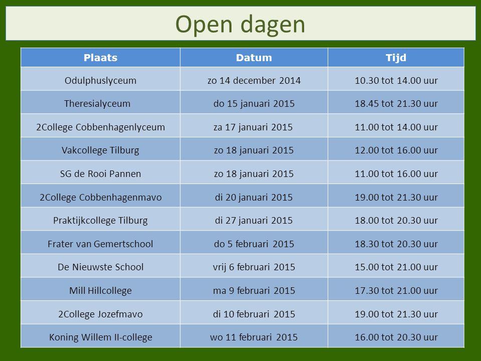 Open dagen Odulphuslyceum zo 14 december 2014 10.30 tot 14.00 uur