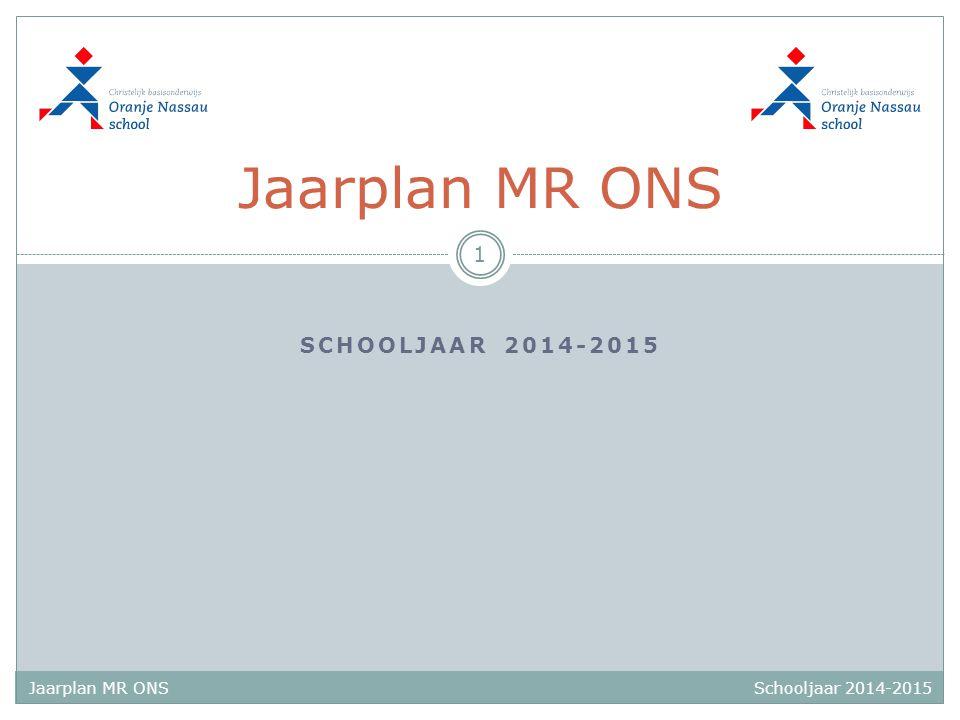 Jaarplan MR ONS schooljaar 2014-2015