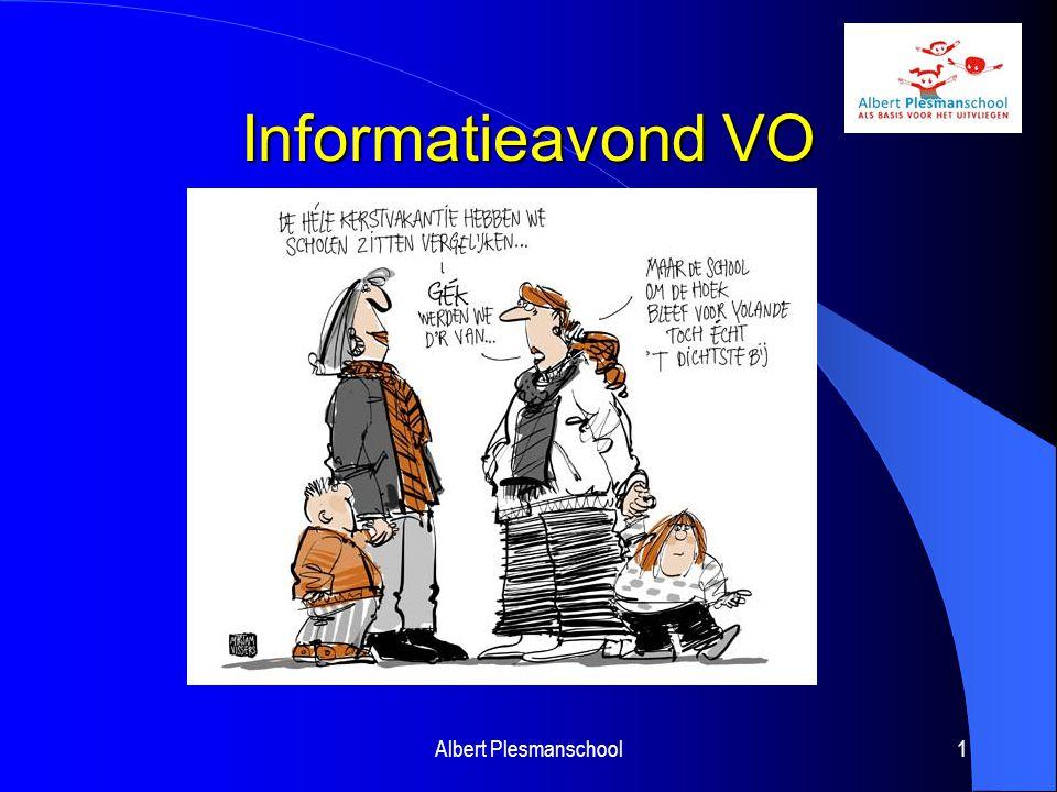 Informatieavond VO Albert Plesmanschool