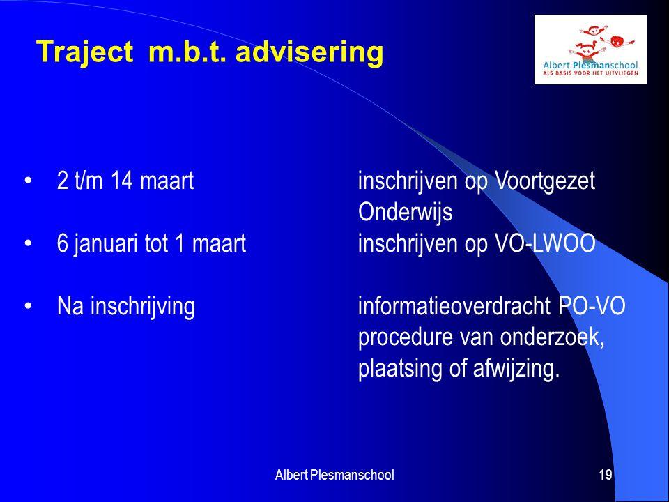 Traject m.b.t. advisering