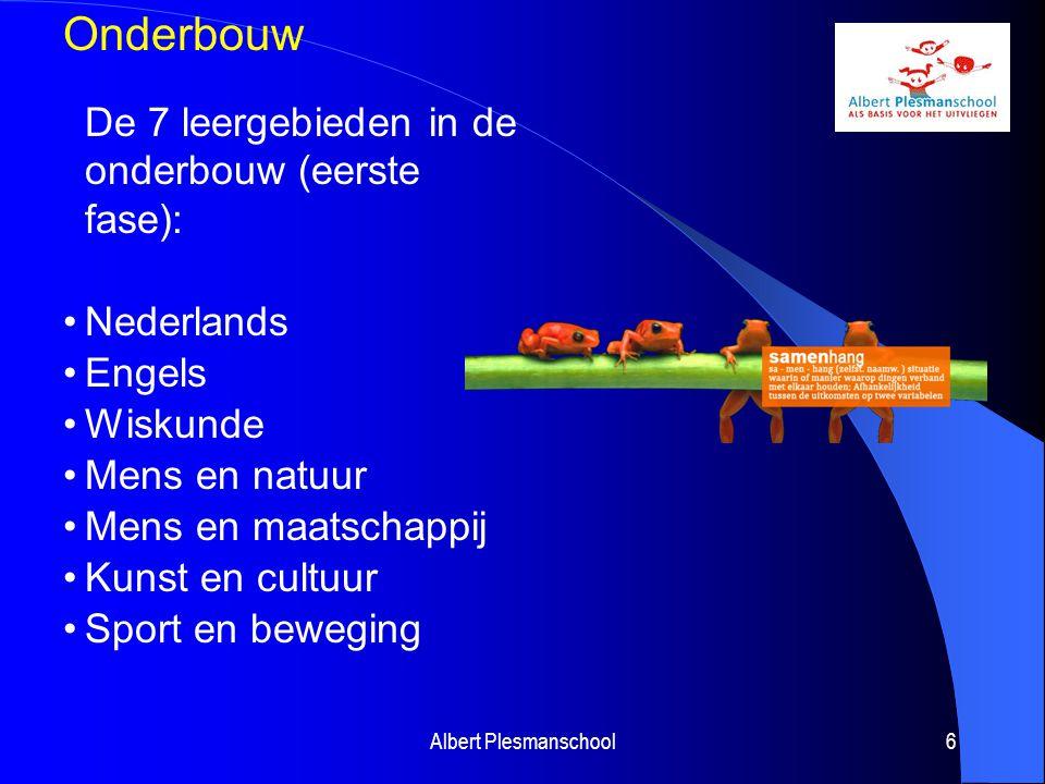 Onderbouw De 7 leergebieden in de onderbouw (eerste fase):