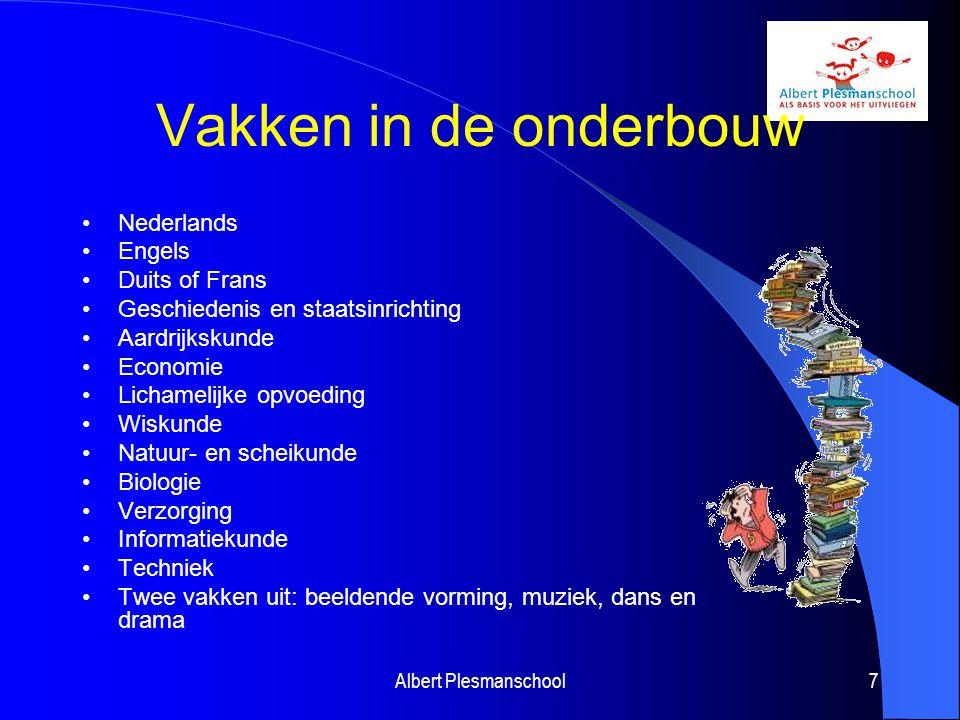 Vakken in de onderbouw Nederlands Engels Duits of Frans