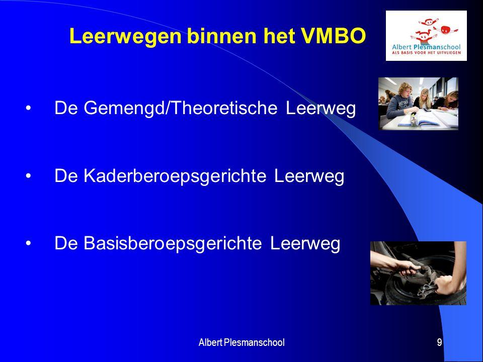 Leerwegen binnen het VMBO