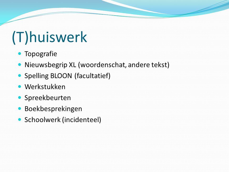 (T)huiswerk Topografie Nieuwsbegrip XL (woordenschat, andere tekst)