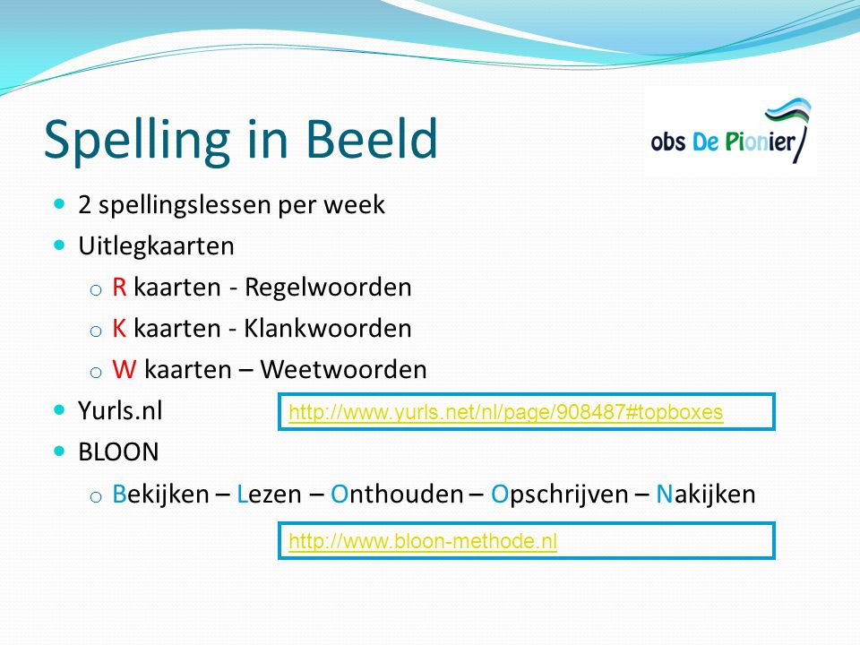 Spelling in Beeld 2 spellingslessen per week Uitlegkaarten