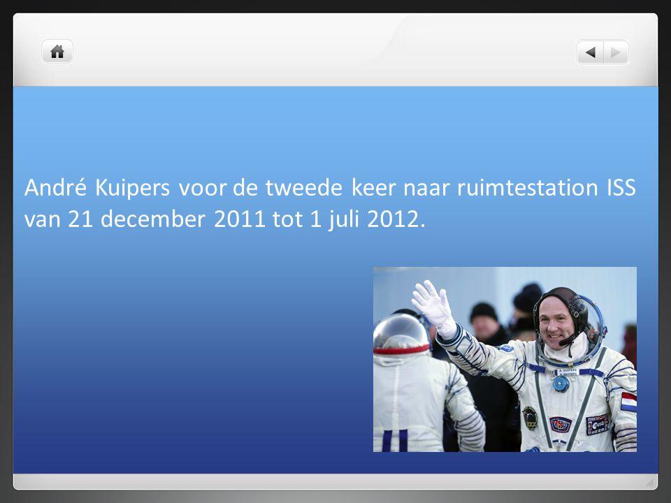 André Kuipers voor de tweede keer naar ruimtestation ISS
