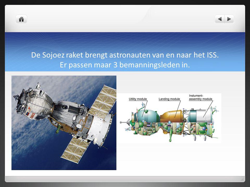 De Sojoez raket brengt astronauten van en naar het ISS
