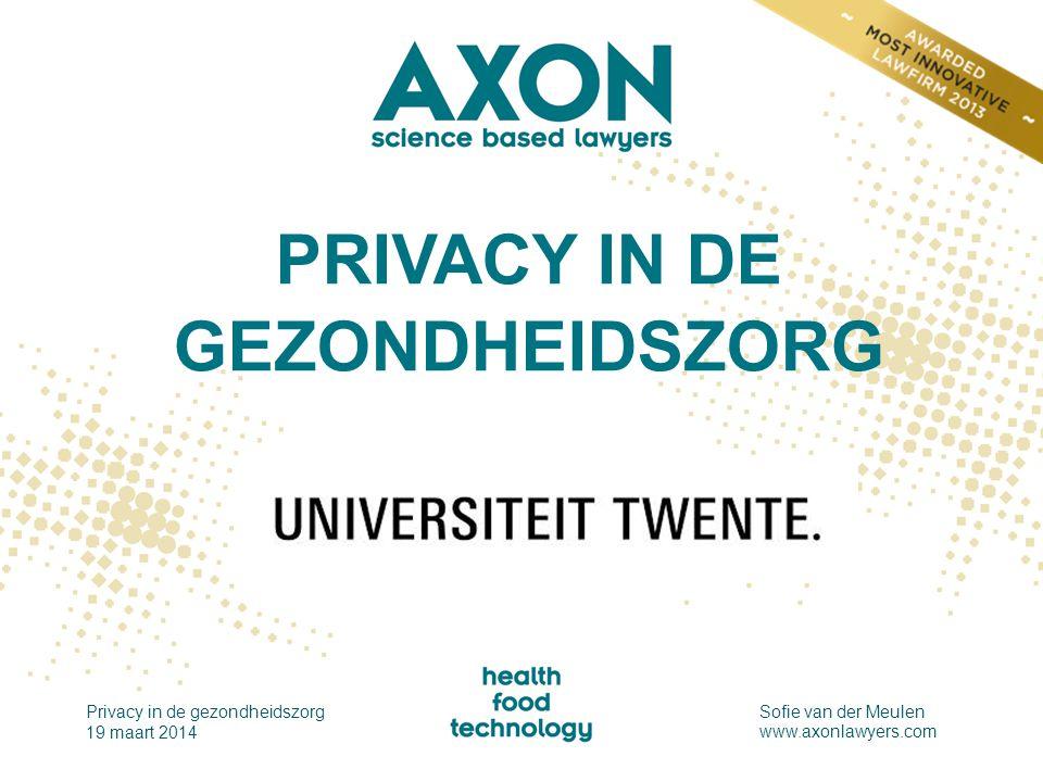 PRIVACY IN DE GEZONDHEIDSZORG