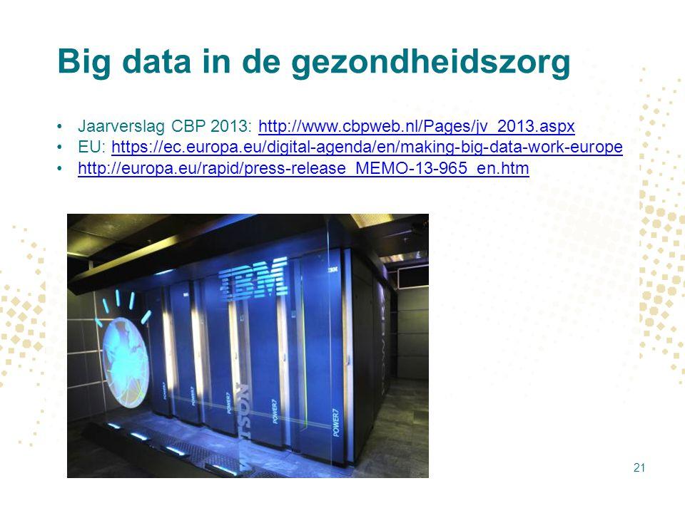 Big data in de gezondheidszorg