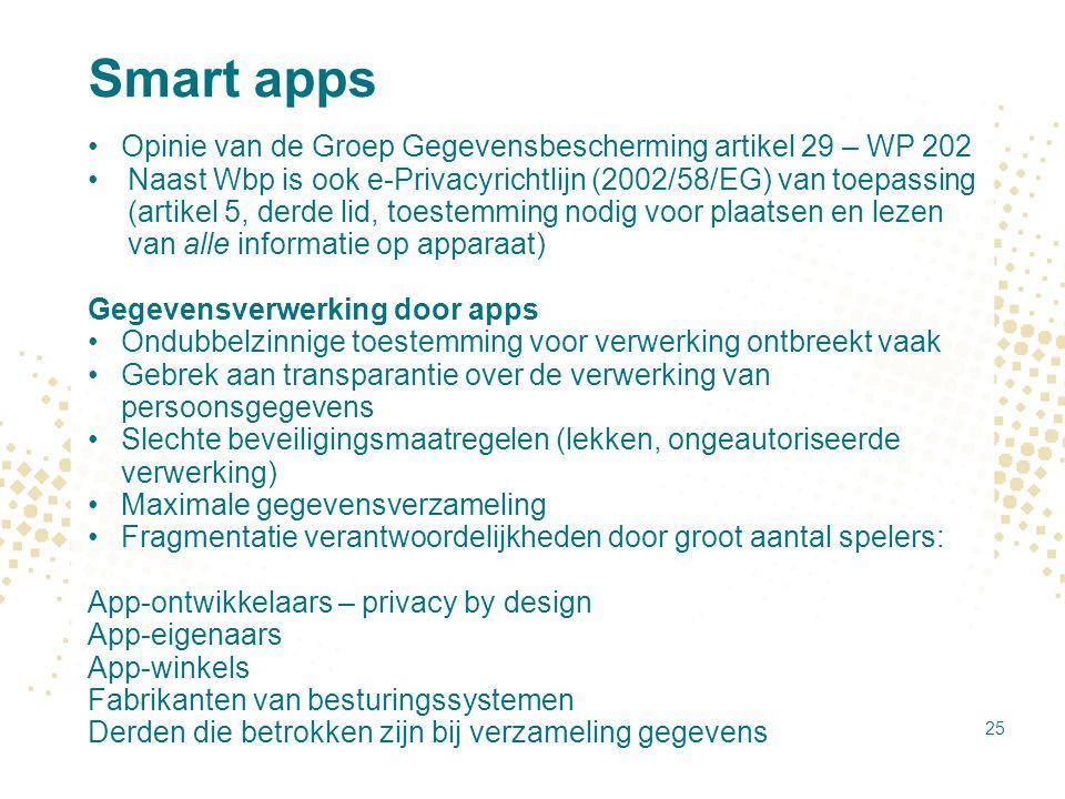 Smart apps Opinie van de Groep Gegevensbescherming artikel 29 – WP 202