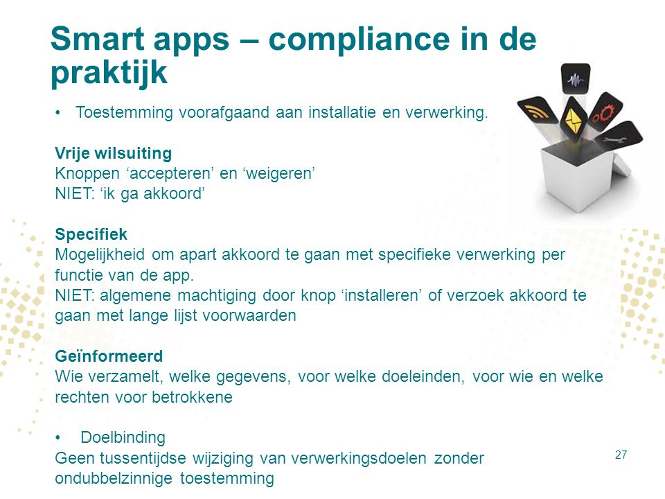 Smart apps – compliance in de praktijk